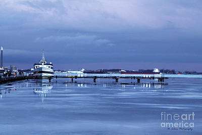 Photograph - Boat On A Frozen Evening Lake by Nina Silver