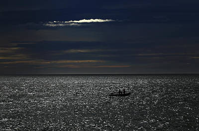 Photograph - Boat On A Sparkly Sea by Nareeta Martin