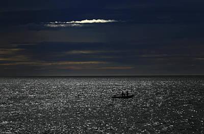 Photograph - Boat On A Sparkly Sea by Nareeta Martin