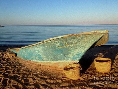 Most Sold Photograph - Boat On Beach by Noa Yerushalmi