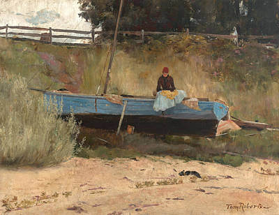 Boat On Beach, Queenscliff Art Print by Tom Roberts