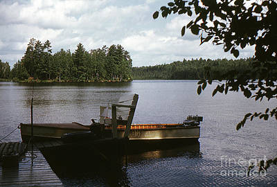 Photograph - Boat On Lake - 001 by Larry Ward