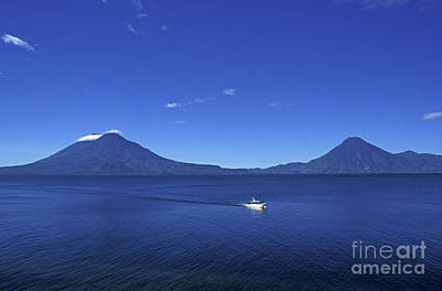Photograph - Boat On Lake Atitlan Guatemala by John  Mitchell