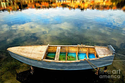 Photograph - Boat On Lake by Silvia Ganora