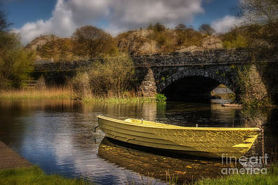 Boat On Llyn Padarn Art Print