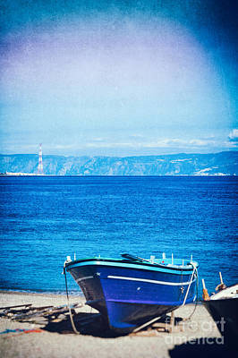 Photograph - Boat On Messina Strait, Italy by Silvia Ganora