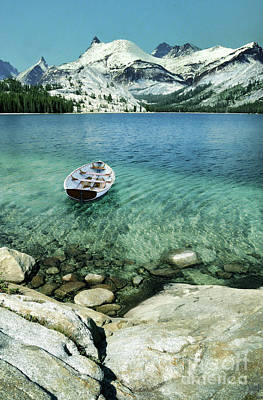 Photograph - Boat On Mountain Lake by Jill Battaglia