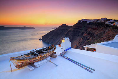 Photograph - Boat On Roof Top  by Emmanuel Panagiotakis