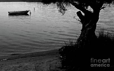 Photograph - Boat On The Bay Bw by Tim Richards