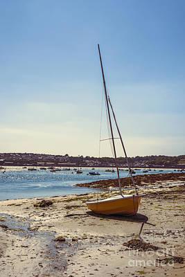 Boat On The Beach Print by Amanda Elwell