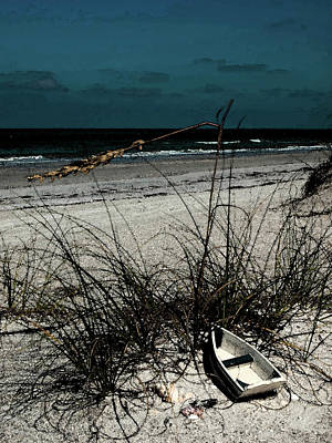 Boat On The Beach Art Print