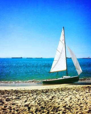 Photograph - Boat On The Beach by Timothy Bulone
