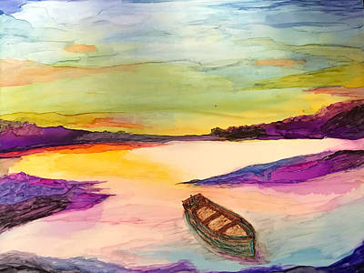 Painting - Boat On The River by Susi Schuele