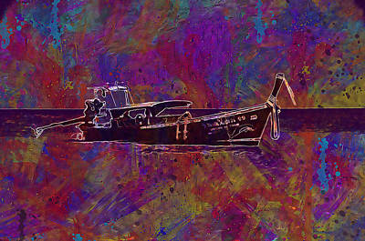 Digital Art - Boat On The Sea by PixBreak Art