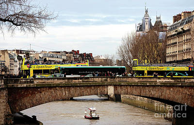 Photograph - Boat On The Seine by John Rizzuto