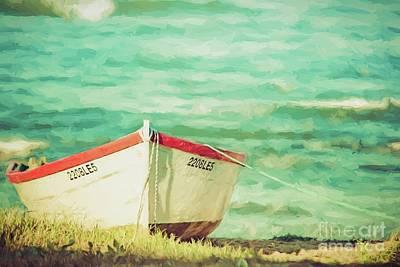 Digital Art - Boat On The Shore by Howard Ferrier