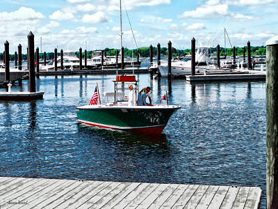 Boat - On The Water In Bristol Rhode Island Art Print by Susan Savad