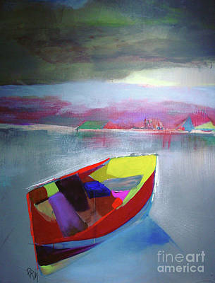 Painting - Boat On Whiskey Lake by Paul Miller