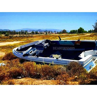 Off Road Photograph - #boat #out#in#the#desert #off#roading by Jose Carmona