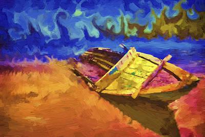 Boat Paint Art Print