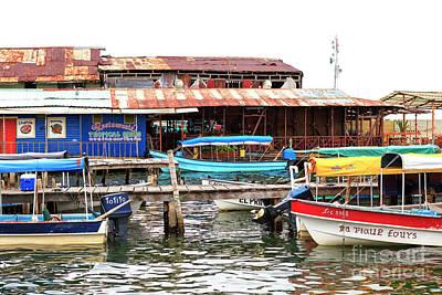 Photograph - Boat Parking At Bocas Del Toro by John Rizzuto