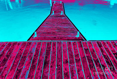 Photograph - Boat Pier Pop Art Dunkirk New York by Rose Santuci-Sofranko