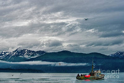 Photograph - Boat Plane Mountains And Birds by David Arment