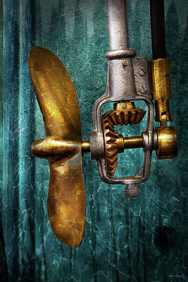 Steampunk Photograph - Boat - Propulsion  by Mike Savad
