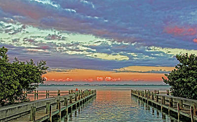 Photograph - Boat Ramp Fisherman by HH Photography of Florida