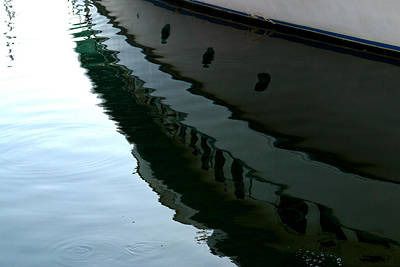 Boat  Reflection - Image 2 - Ver. 2 Art Print