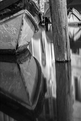 Photograph - Boat Reflection In Venice Canal  by John McGraw