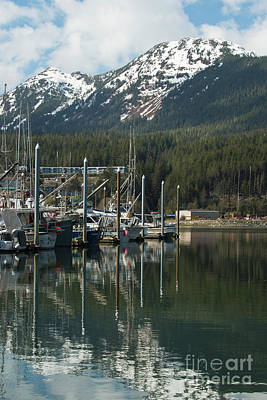 Photograph - Boat Reflection Petersburg Alaska by Loriannah Hespe