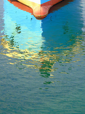 Photograph - Boat Reflection by Susan Lafleur