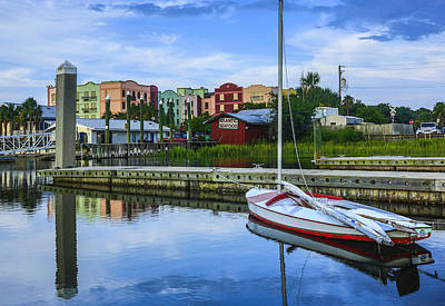 Photograph - Boat Reflections Of Fernandina Beach by Paula Porterfield-Izzo
