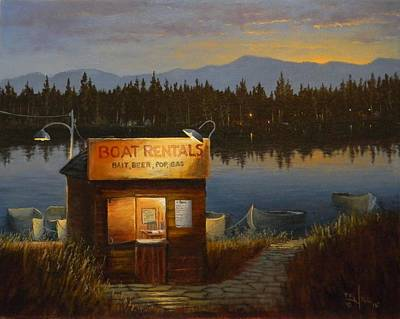 Painting - Boat Rentals by Paul K Hill