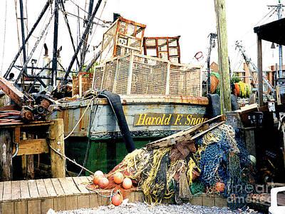 Photograph - Boat Repair Shipyard In Gloucester, Ma by Merton Allen