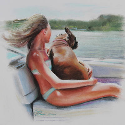 Pastel - Boat Ride Companions by Emily Olson
