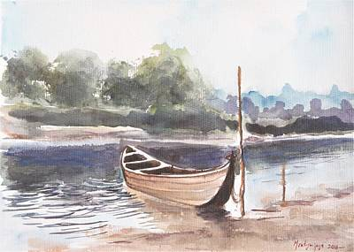Painting - Boat Ride by Mrutyunjaya Dash