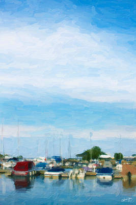Boat Scene 1 Art Print by Chamira Young