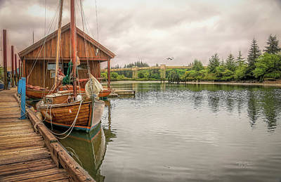 Photograph - Boat Scene Toledo Oregon by Bill Posner