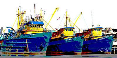 Boat Series 12 Fishing Fleet 2 Empire Art Print