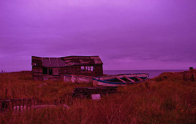 Boat Shed Blues Print by Stuart Parnell