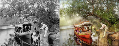 Photograph - Boat - Shotgun Annie 1893 - Side By Side by Mike Savad