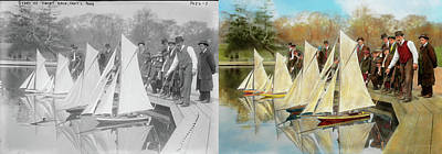 Photograph - Boat - Sorry Kids This Ones Mine 1910 - Side By Side by Mike Savad