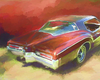 Digital Art - Boat Tail Buick by David King