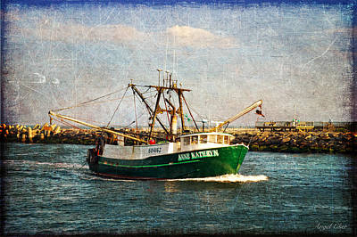 Art Print featuring the photograph Boat Texture Manasquan Inlet by Angel Cher