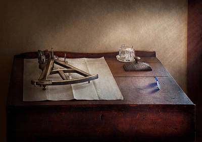 Charting Photograph - Boat - The Joy Of Sextant by Mike Savad