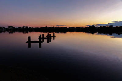 Photograph - Boat Ties On Twilight Lake by Kathleen McGinley