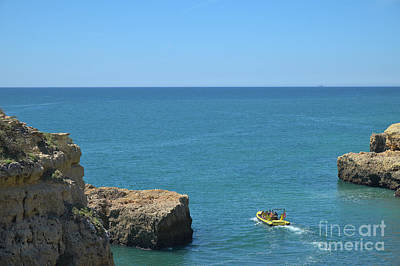 Old Photograph - Boat Tour By The Cliffs In Lagoa 3 by Angelo DeVal