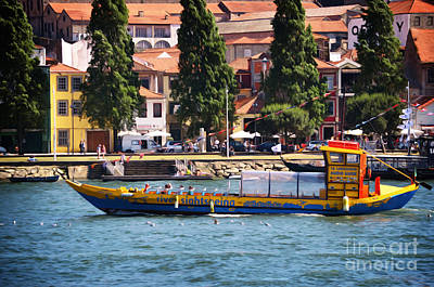 Sightseeing Digital Art - Boat Tour On The Douro River - Porto by Mary Machare